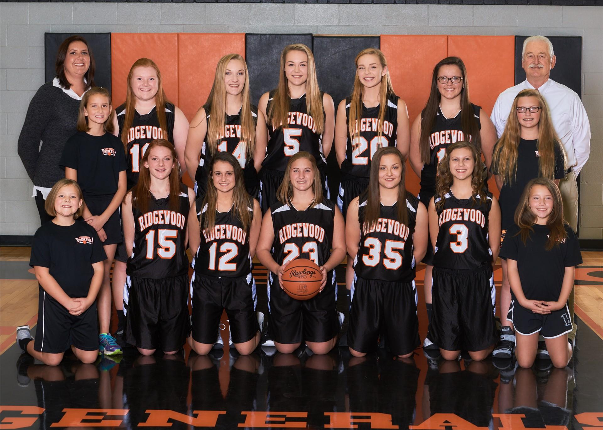 2016-2017 Jr. Varsity Girls Basketball