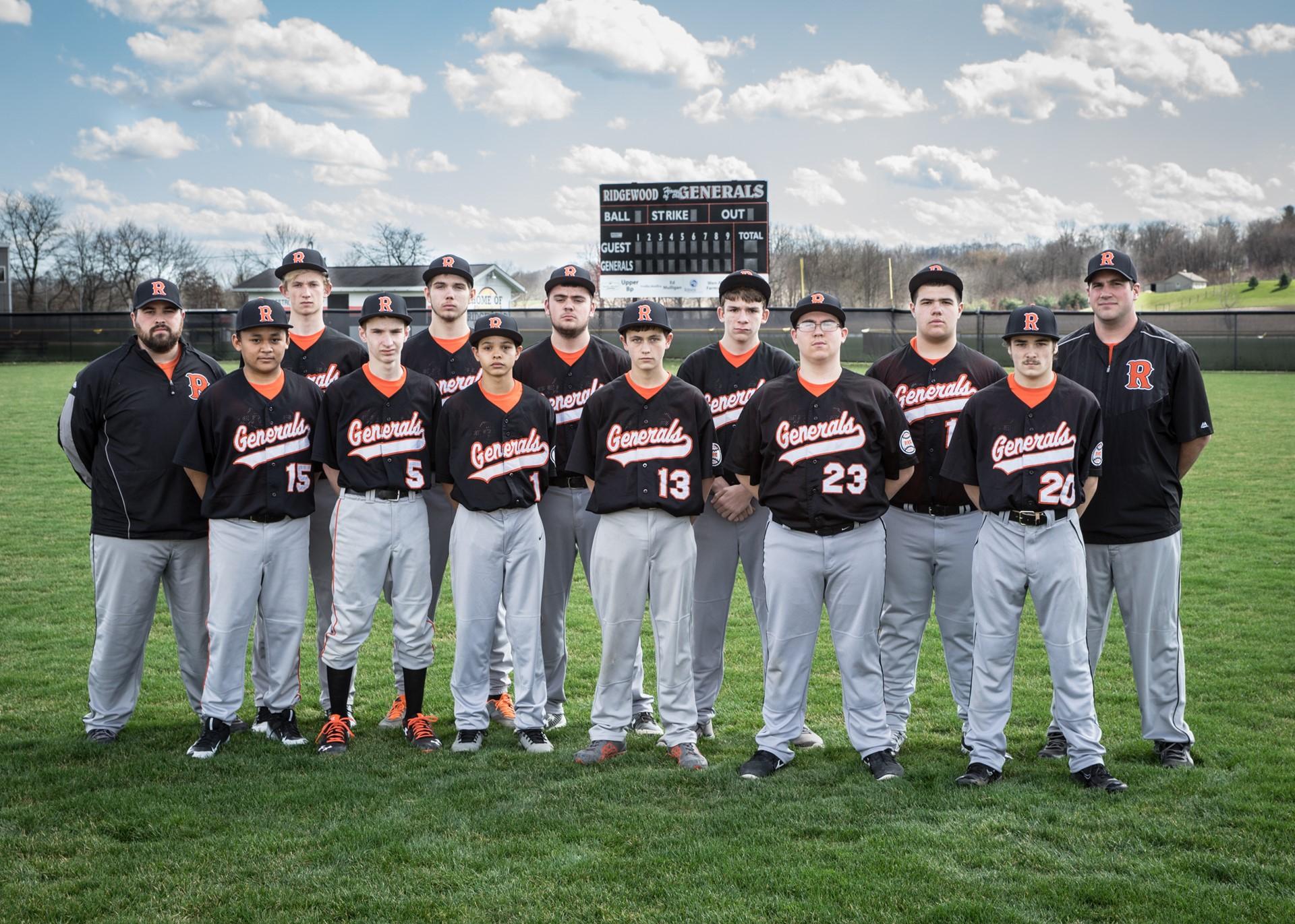 2016 JV Baseball Team