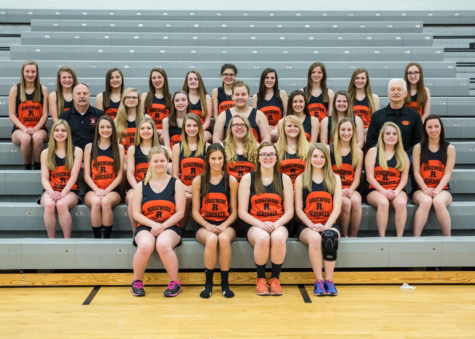 2016 Varsity Girls Track Team