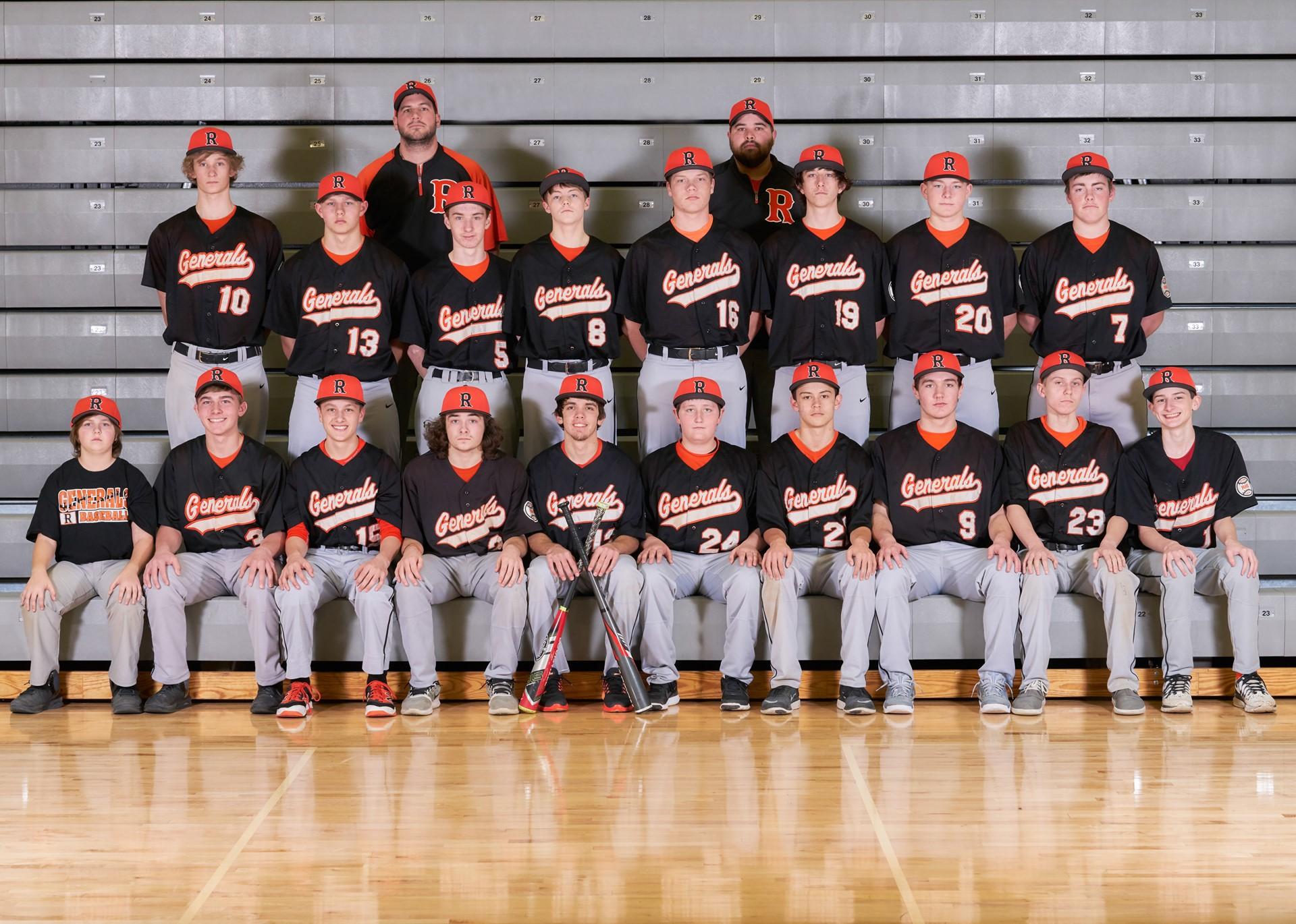 2017 JV Baseball Team