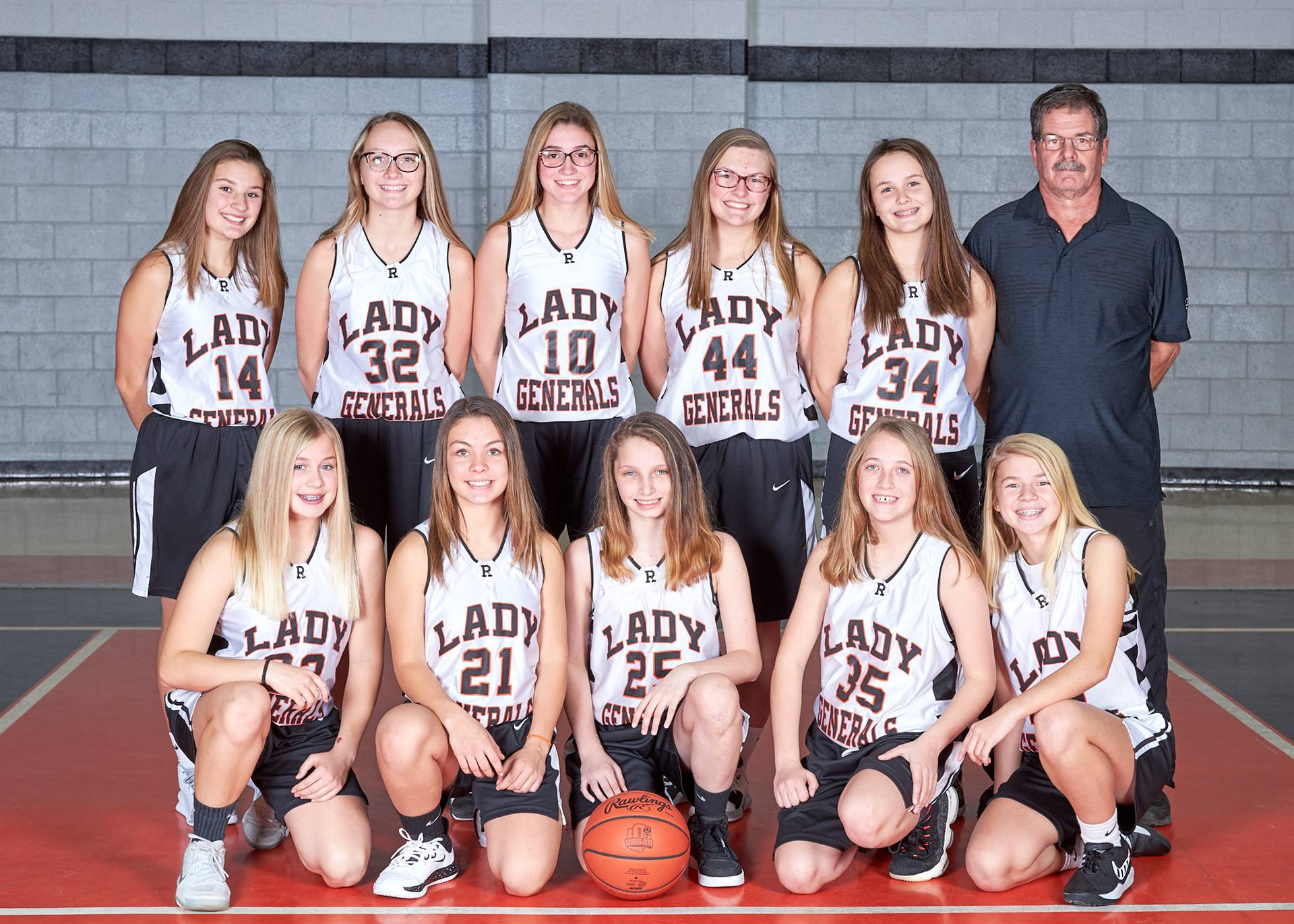 8th girls bb team
